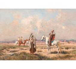 LES FAUCONNIERS, FIN XIXème siècle