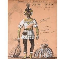 PAIRE DE DESSINS DE COSTUMES POUR LA PIECE DE THEATRE «AMAHL AND THE  NIGHT VISITORS»